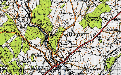 Old map of Allaston in 1946