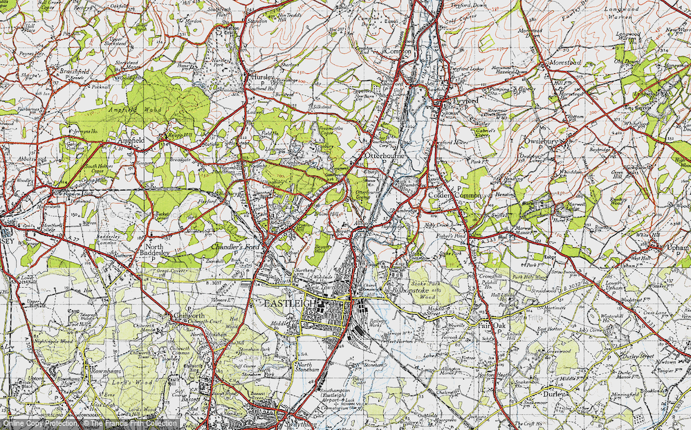 Old Map of Allbrook, 1945 in 1945
