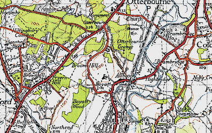 Old map of Allbrook in 1945