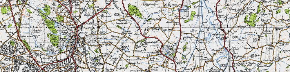 Old map of Allen End in 1946