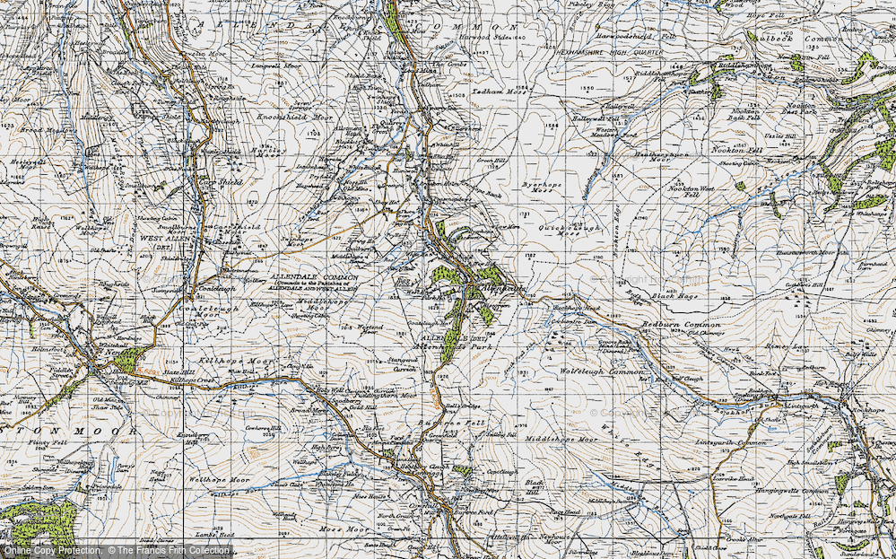 Old Map of Allenheads, 1947 in 1947