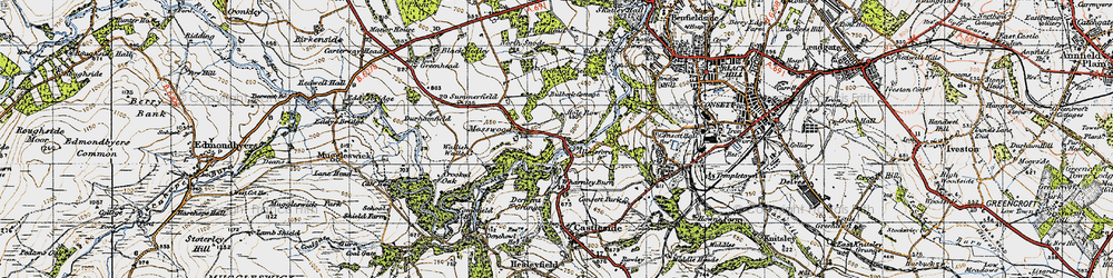 Old map of Allensford in 1947