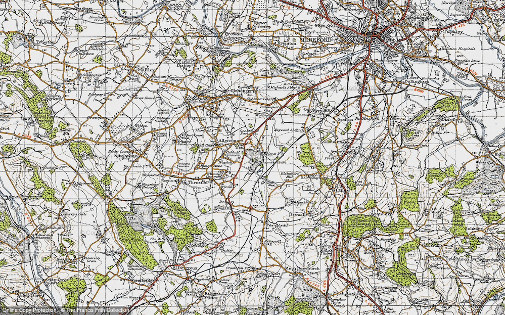 Old Map of Allensmore, 1947 in 1947