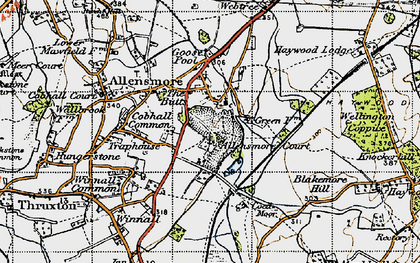 Old map of Allensmore in 1947
