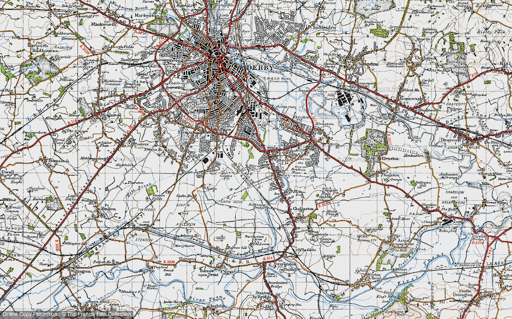 Old Map of Allenton, 1946 in 1946