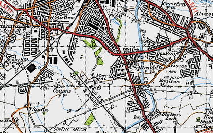 Old map of Allenton in 1946
