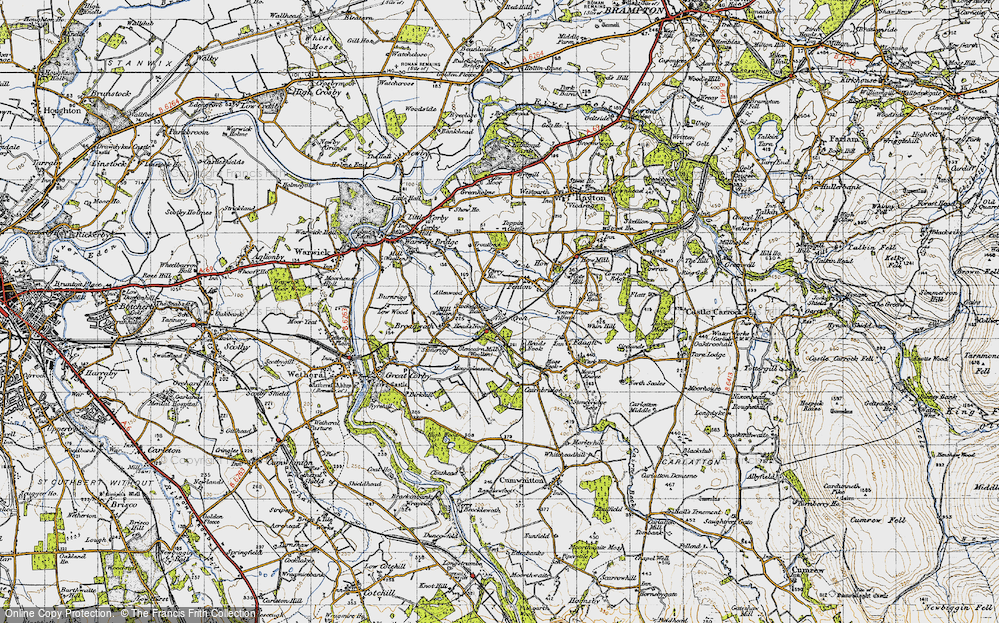 Old Map of Allenwood, 1947 in 1947