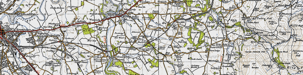 Old map of Allenwood in 1947