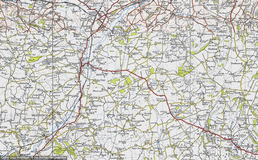 Old Map of Aller, 1946 in 1946