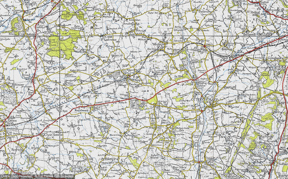 Old Map of Aller Grove, 1946 in 1946