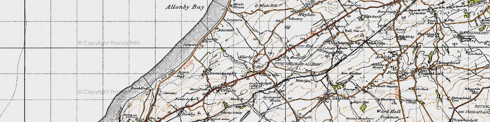 Old map of Allerby in 1947