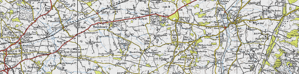 Old map of Allercombe in 1946