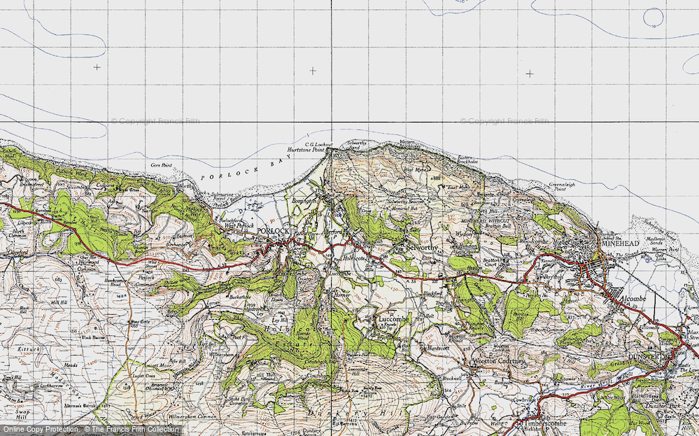 Old Map of Allerford, 1946 in 1946