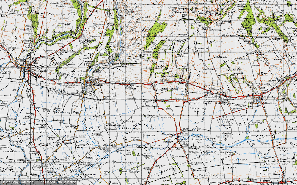 Old Map of Allerston, 1947 in 1947