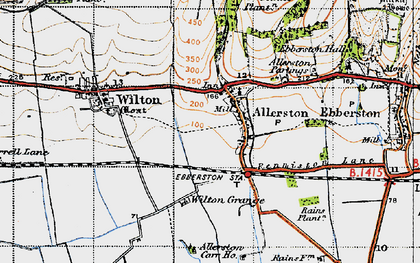 Old map of Wilton Grange in 1947