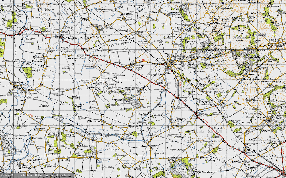 Old Map of Allerthorpe, 1947 in 1947