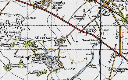 Old map of Allerthorpe in 1947