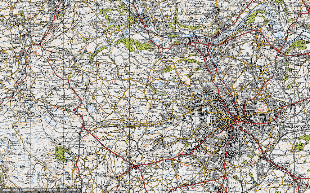 Old Map of Allerton, 1947 in 1947