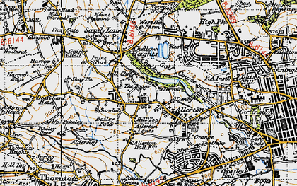 Old map of Allerton in 1947