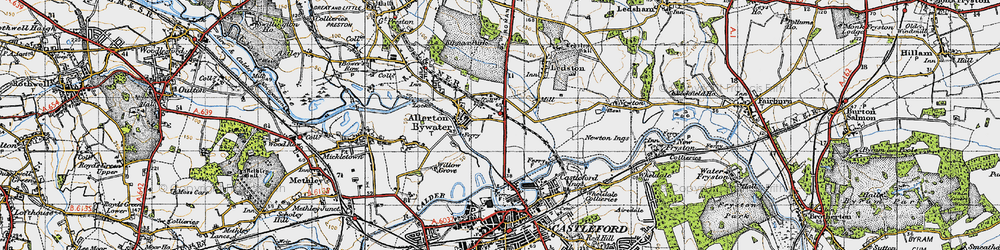 Old map of Allerton Bywater in 1947