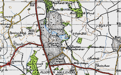 Old map of Allerton Park in 1947