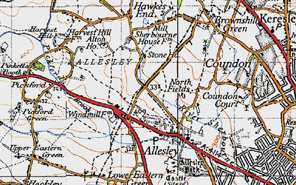 Old map of Allesley in 1946