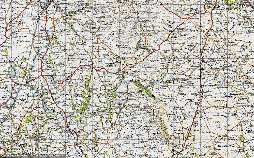 Old Map of Allgreave, 1947 in 1947