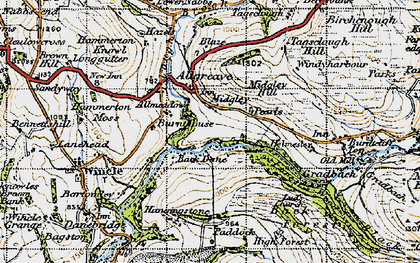 Old map of Allgreave in 1947