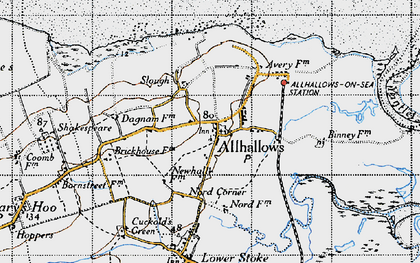 Old map of Yantlet Creek in 1946