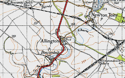 Old map of Allington in 1940