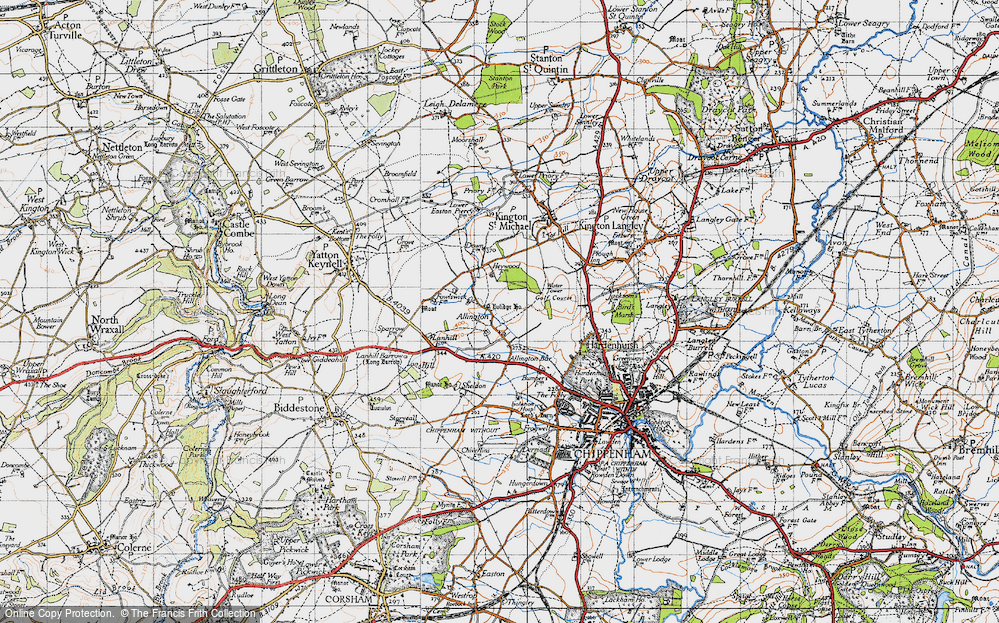 Old Map of Allington, 1946 in 1946