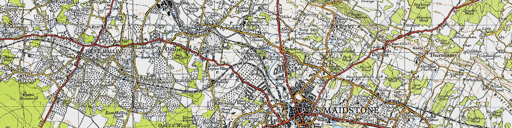 Old map of Allington in 1946