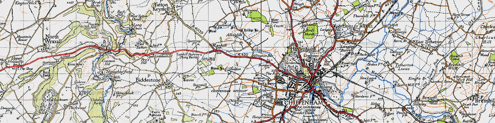 Old map of Allington Bar in 1946
