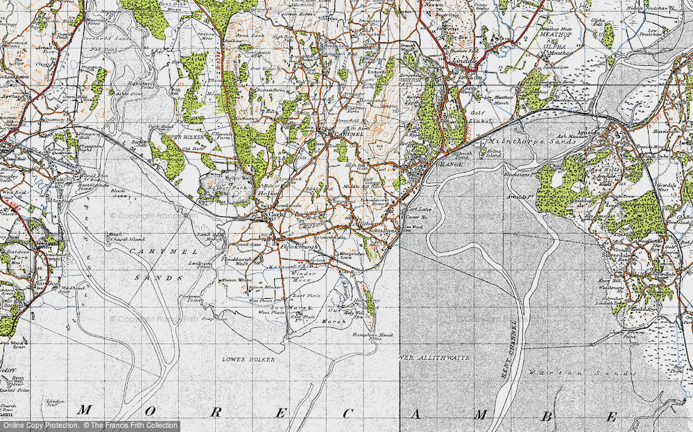 Old Map of Allithwaite, 1947 in 1947