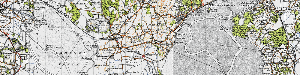 Old map of Allithwaite in 1947