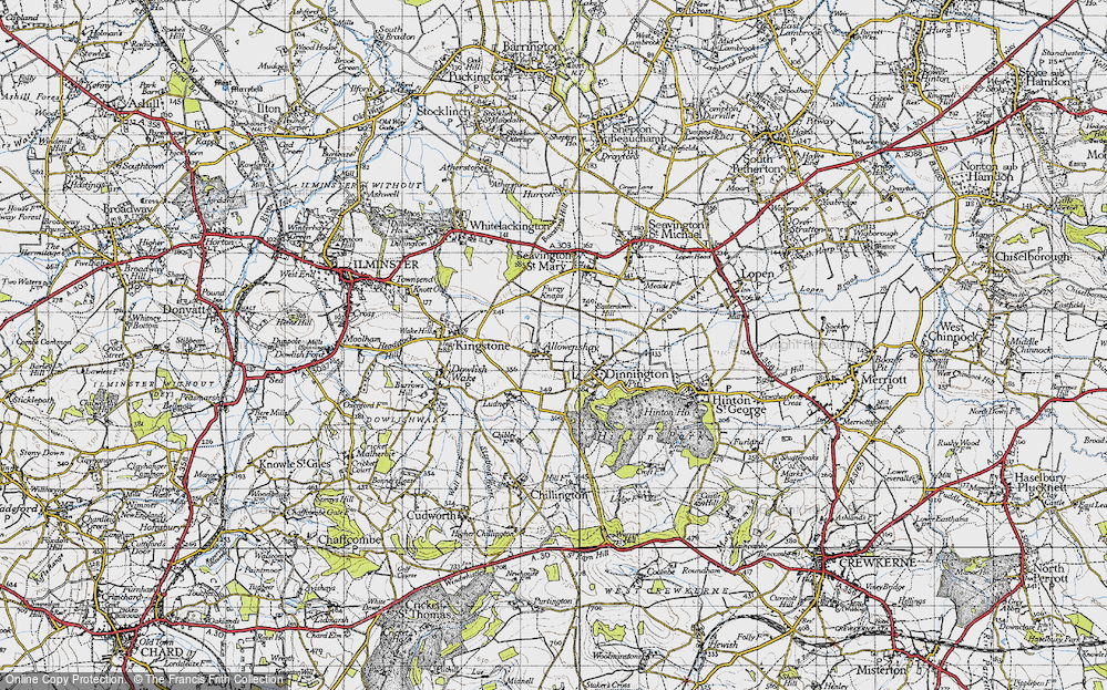 Old Map of Allowenshay, 1945 in 1945