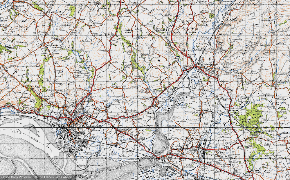 Old Map of Allt, 1947 in 1947