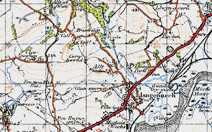 Old map of Allt in 1947