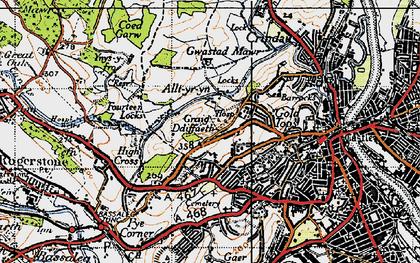 Old map of Allt-yr-yn in 1946