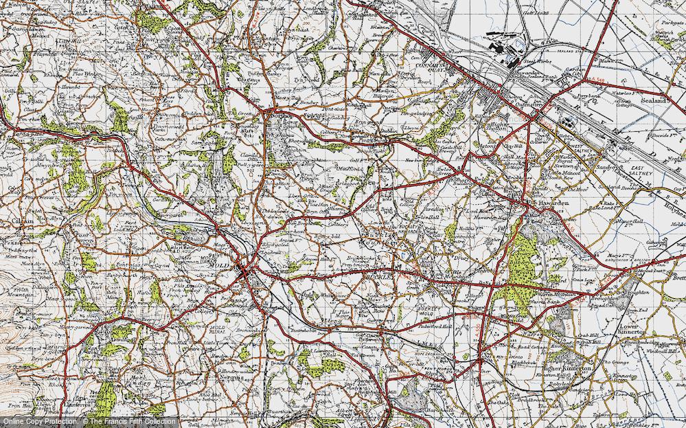 Old Map of Alltami, 1947 in 1947
