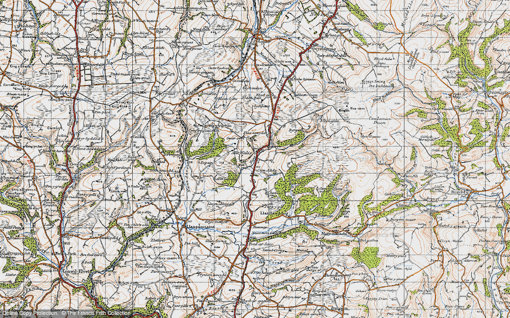 Old Map of Alltwalis, 1946 in 1946