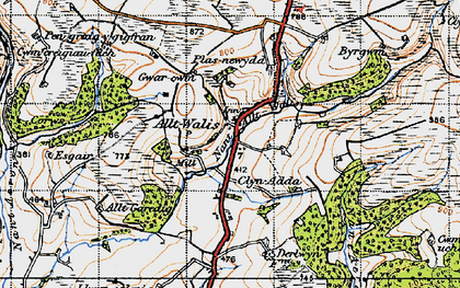 Old map of Alltwalis in 1946