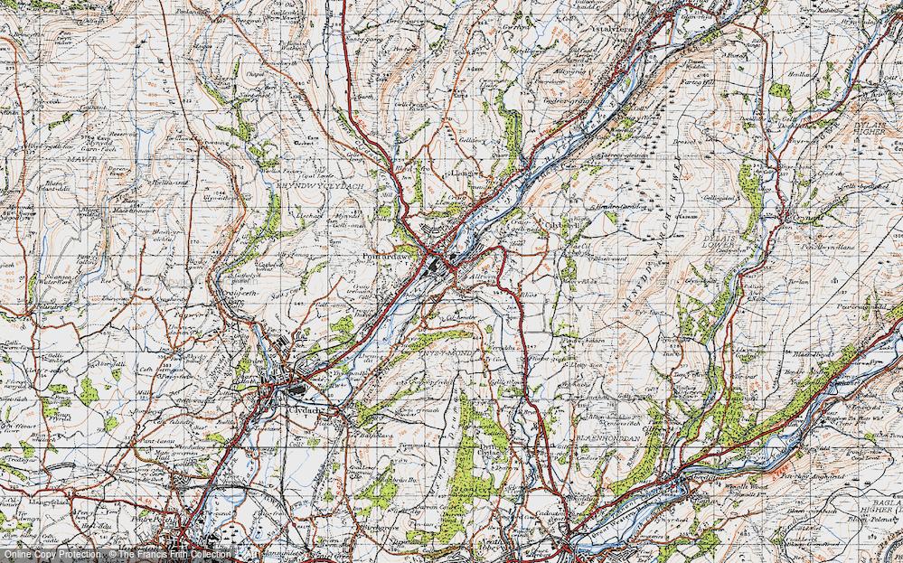 Old Map of Alltwen, 1947 in 1947
