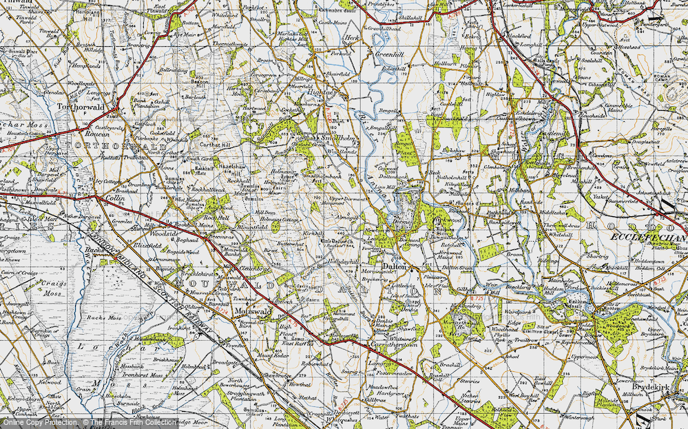 Old Map of Almagill, 1947 in 1947