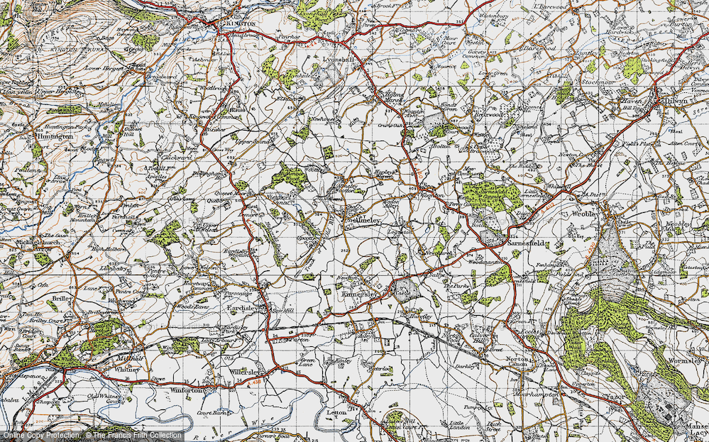 Old Map of Almeley, 1947 in 1947