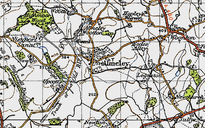 Old map of Almeley in 1947