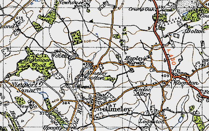 Old map of Almeley Wootton in 1947