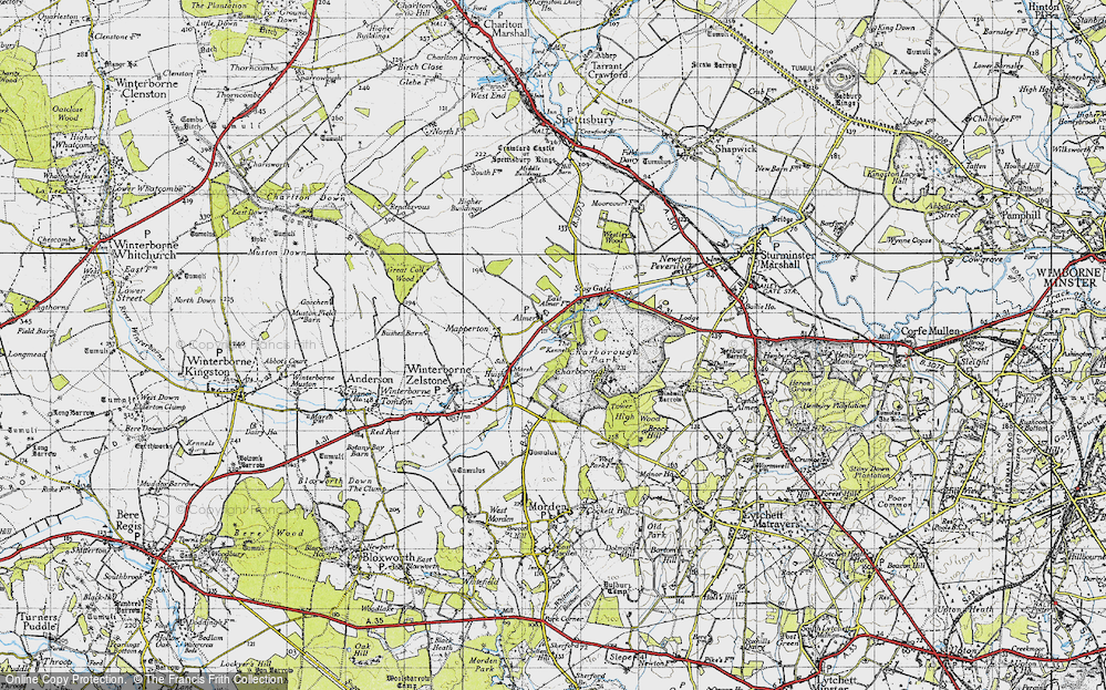 Old Map of Almer, 1940 in 1940
