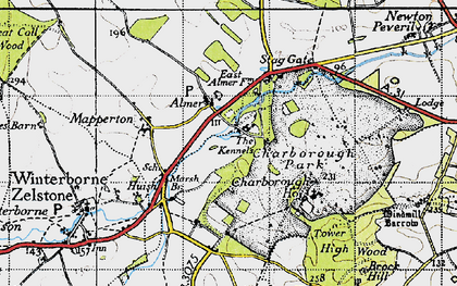 Old map of Almer in 1940