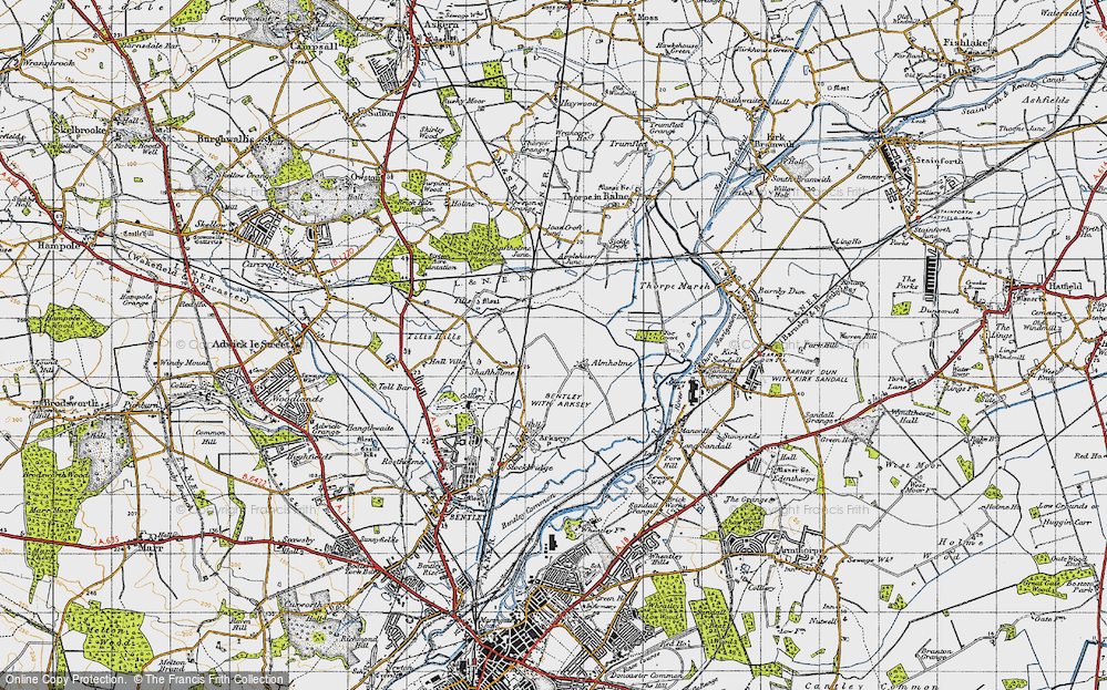 Old Map of Almholme, 1947 in 1947